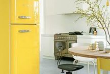 Colour of the Week: Yellow / The sun is out, the sky is clear, and it finally feels like summer might be here to stay! And we're looking at some bright, breezy kitchens in sunshine yellow to celebrate.