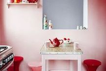 Colour of the Week: Pink / The kitchen isn't solely a womans' domain, but that doesn't mean there aren't plenty of cute, chic and girly pink kitchens taking the interior design world by storm! http://goo.gl/IusJT9