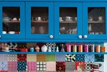 Colour of the week: Blue / Beautiful blue kitchens!