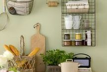 Colour of the week: Green / Delightful green kitchens and green kitchen accessories!