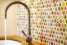Alternative Backsplashes / Bored of the usual subway tiles? Check out our selection of alternative kitchen backsplashes!