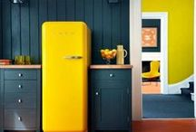 Style Trend: Coloured Fridges / These days the fridge is as much a style statement as any other part of your kitchen! These beautiful colourful fridges show you how.
