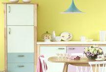 Pastel Kitchens / Pale, pretty, pastel kitchens!