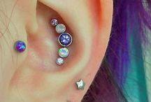 Earrings piercings
