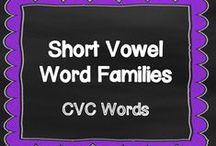 Short Vowel Word Families / Reading CVC word family words is such an important skill. Emergent Readers need a lot of practice reading word families. www.kindergartencorps.blogspot.com