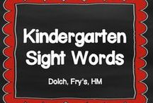 Kindergarten Sight Words - HFWs / My little kinders have 40 HFWs to learn this year including the 18 words from Houghton Mifflin. Here, I am collecting activities to help me teach them complete mastery. www.kindergartencorps.blogspot.com