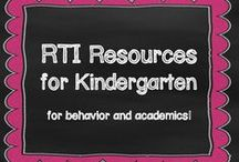 Kindergarten RTI Resources: Intervention Tools and Strategies / A collection of strategies to use as RTI Intervention with Kindergarten or First Grade age students. The focus is in Language Arts: blending, segmenting, isolating sounds, rhyme and change, HFW or sight word work, and writing to boost phoneme segmentation fluency, nonsense word fluency, letter naming fluency and the whole words read scores. www.kindergartencorps.blogspot.com