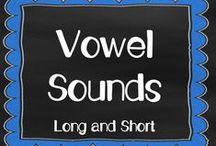 Vowel Sounds / Short vowels, long vowels, vowel pairs, vowel digraphs, beginning sounds, medial sounds, final sounds, www.kindergartencorps.blogspot.com