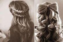 Hair styles. / Hair, hair, hair! I love it <3