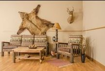 Rustic Hickory & Oak Log Furniture / Outdoor and indoor rustic hickory log furniture - perfect for a rustic lodge, cabin, or farmhouse setting.  http://furniturebarnusa.com/55-rustic-hickory-outdoor-furniture