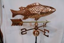 Outdoor Country Style Weather Vanes / Check out our full line of country copper weather vanes.  Available with either a polished copper or patina finish, a perfect addition for your country house!  http://furniturebarnusa.com/110-outdoor-amish-country-weathervanes-accessories