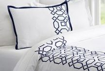 Products: A Stitch in Time / Bed, Beds, Bedding! Pillows! All beautifully embellished.