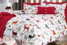 Products: Bedroom Dreaming / Bed! Bedding! Pillows! All showing exciting print concepts.