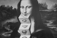 Mona Lisa's. / Haha! Mona lisa magic