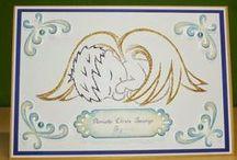 Chrzest, baptism - stiching cards, haft matematyczny, izonit / Cards made by stitching card (izonit) technique.