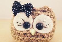 My Cuties :) / Handmade Cutie owls, every single one is different.  Patterns are protected, please do not copy. Thank you
