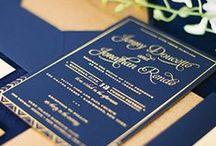 Wedding Invitations / custom wedding invitations. gold & silver foil. sparkle. embossed. letterpress. rustic.