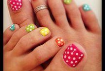 pretty little piggys °°°°° / Toe nail art