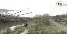 Footbridge over Morava River