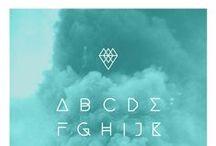 Typographies / Affichés, fonts et créations graphique autour de la typographie