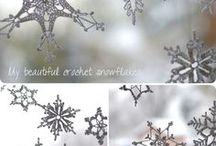 Lumehelveste heegeldamine / crocheting snowflakes / crochet snowflakes, crochet, snowflakes