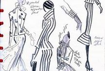 Fashion Design Sketches / Design sketches, present and past, with an emphasis on vintage gouache drawings from the 1950's and 60's. / by Lamont O'Neal