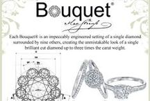 Bouquet Jewellery / Each Bouquet is an impeccably engineered setting of a single diamond surrounded by nine others, creating the unmistakable look of a single brilliant cut diamond up to three times the carat weight!