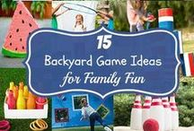 Outdoor Fun / Backyard Games | Things for Kids to do Outside | Backyard Activities for us to do as a Family | Nature Crafts |