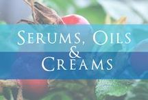 Serums, Oils, and Creams / Luxurious Age-Defying Facial Treatments Filled with Potent Botanical Extracts, Precious Oils, and Nutritive Butters.