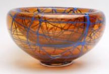 Art Glass Centerpieces / Bowls and platters made by America's best Blown glass artists.