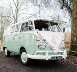 wedding transport / Wedding transport inspiration. Wedding VWs, retro wedding transport, vintage vehicles for weddings, unusual wedding cars