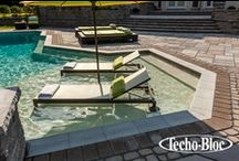 Casual Style / Outdoor entertainment features can transform your home's backyard into a true living space, making family time, romance, elegance and fun affordable luxuries. www.techo-bloc.com