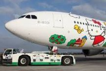 Odd Airline Ideas / Here are some photos of odd ideas and themes airlines come up with. Things such as a Hooters plane, Hello Kitty Jet, and Non-Children Sections of flights. #hellokittyjet #hootersairline #travelnews #unitedmilitarytravel #travelloans