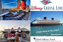 Welcome Aboard - Cruise Financing  / United Military Travel offers financing for cruises! We work with all the major cruise lines including: Disney Cruises, Carnival, Royal Caribbean, Norweigan, Princess, & more! Call us 866-582-9579 or apply online for your next cruise vacation loan at www.unitedmilitarytravel.com! #disneycruise #travelloans #cruises #familyvacation