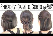 Short hairstyle/ Peinados para pelo corto.