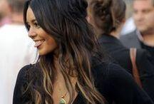 Brown - Black Hair / Pelo Castaño-Negro