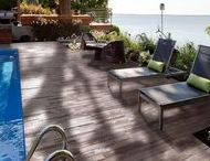 Wood Look / The indoor warmth and rich look of hardwood flooring is now available outdoors.