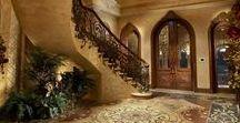 Villa & Palace Foyers, Entrances / The front matters! A Collection of luxury villa & palace entrances and foyers.