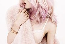 Pastel colors / pale shades of blues, greens, pinkish, lilac for a romantic and dainty look