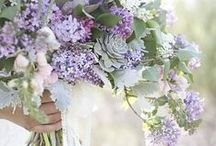 Lavender and lilac / all the shades of Lavender for a delicate and romantic wedding color choice