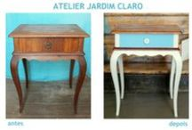 Works / Recycled furniture and objects by Atelier Jardim Claro