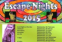 Escape nights - Taking Part / 1st Wednesday of the month at the Hive, Belmont, Shrewsbury  3rd Wednesday of the month at the Buttermarket,   Shrewsbury   Parrrrrrtay!!!