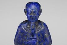 Lapis Lazuli / Lapis was used extensively in ancient Egypt. It was used as a symbol of the night sky, bridging the cosmos and earth in cultures from the Middle East to South America.