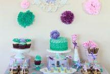 CUMPLEAÑOS / mesas de cumpleaños y adornos.