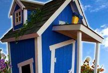 Casitas para niños QAH / Casitas de madera para niños Quality American Home