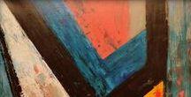RAQ PIFFER  -  My Paintings / Mixed media on panel Pintura em acrílica.