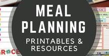 Meal Planning Resources / Meal planning printables and resources to make your meal planning, shopping, and cooking easier and more efficient.