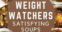 Satisfying Soups / Nice warm soups that are slimming and satisfying.  Weight Watchers SmartPoints included.