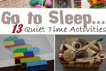 Busy Bags & Quiet Time / Ideas for when kiddos want or need a bit of quiet, independent play time.