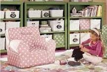 Little Girl Bedrooms / Two little girls and too much pink stuff! Ideas for little girls bedrooms, including organization, design, décor, DIY, vintage, furniture, paint, shared, lighting, froze, princess, owls, and more!